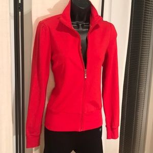 Forever 21 Active red cotton zip up jacket top S